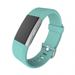 Strap Bracelet Soft Silicone Watch Band Wrist Strap For Charge 2 Band Charge 2 Heart Rate Smart blue qaq