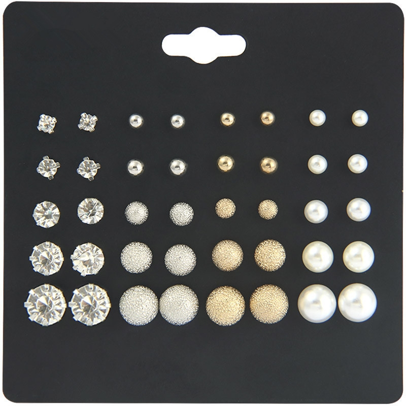 20 for plate size suit pearl earrings female six claw zircon earrings pearl set auger adorn article a one size 10