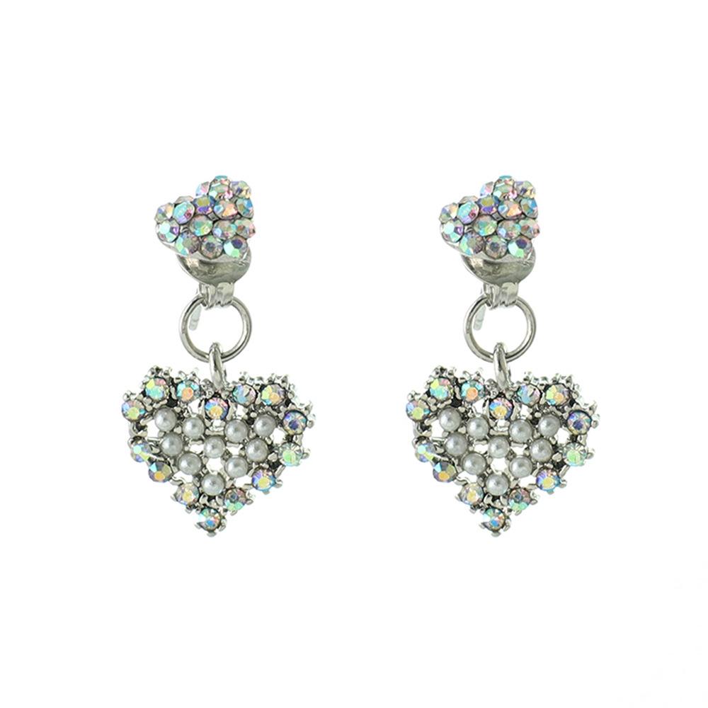 Han edition personality alloy diamond stud earrings pink star earrings female stud earrings,pendants Black star one size 22