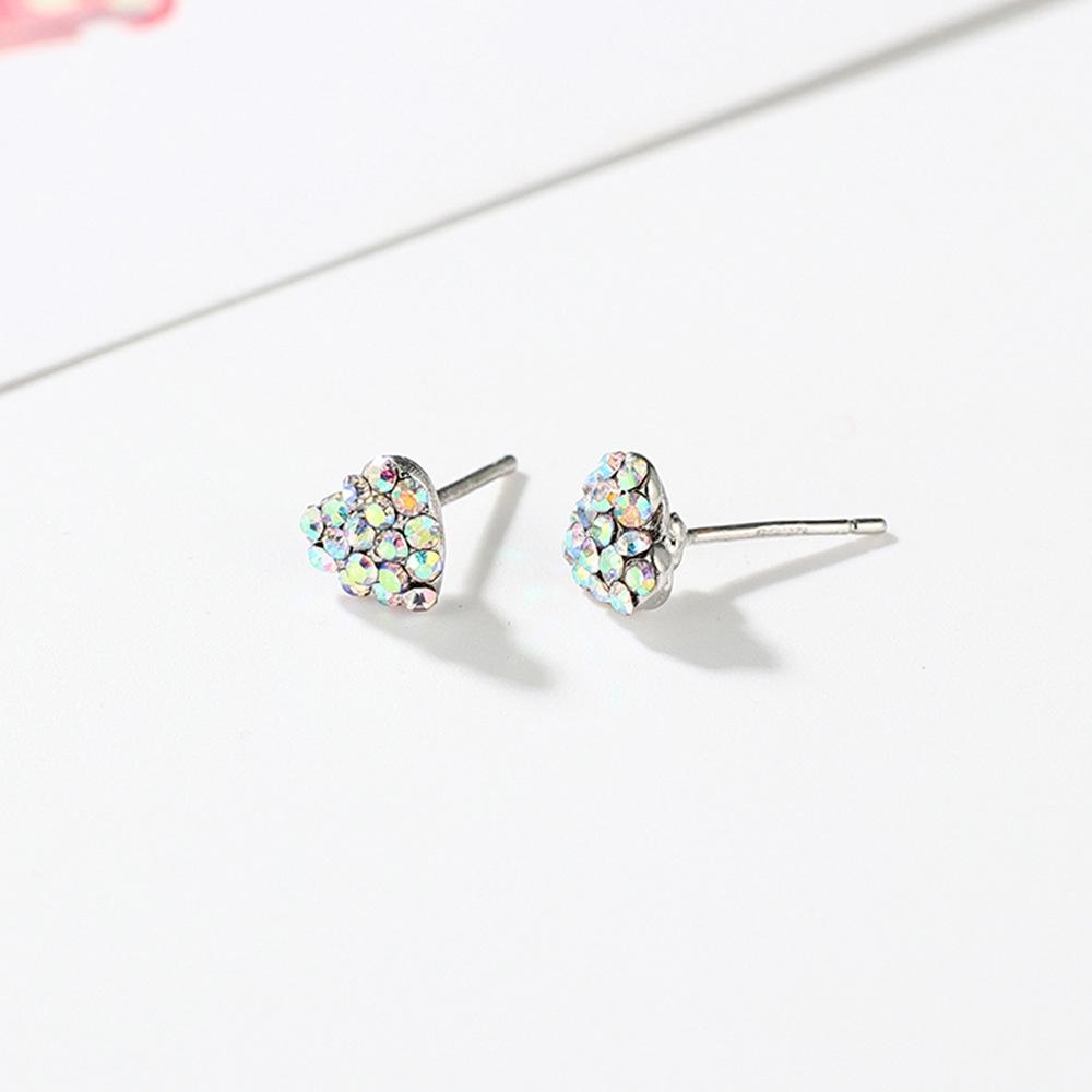 Han edition personality alloy diamond stud earrings pink star earrings female stud earrings,pendants Black star one size 17