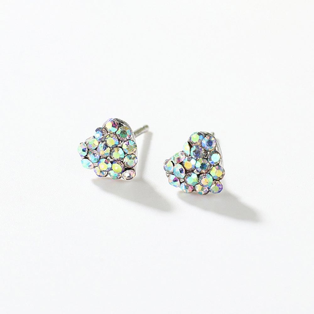Han edition personality alloy diamond stud earrings pink star earrings female stud earrings,pendants Black star one size 15
