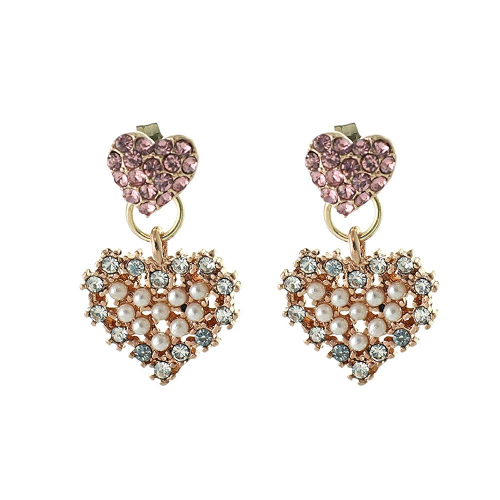 Han edition personality alloy diamond stud earrings pink star earrings female stud earrings,pendants Black star one size 9