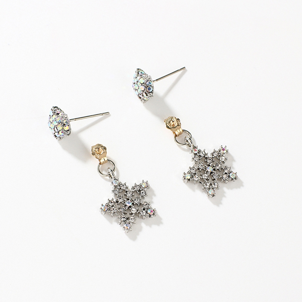 Han edition personality alloy diamond stud earrings pink star earrings female stud earrings,pendants Black star one size 14
