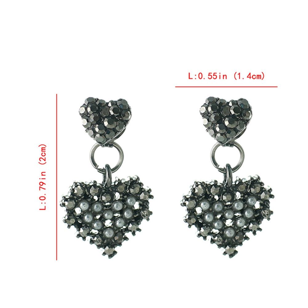 Han edition personality alloy diamond stud earrings pink star earrings female stud earrings,pendants Black star one size 6