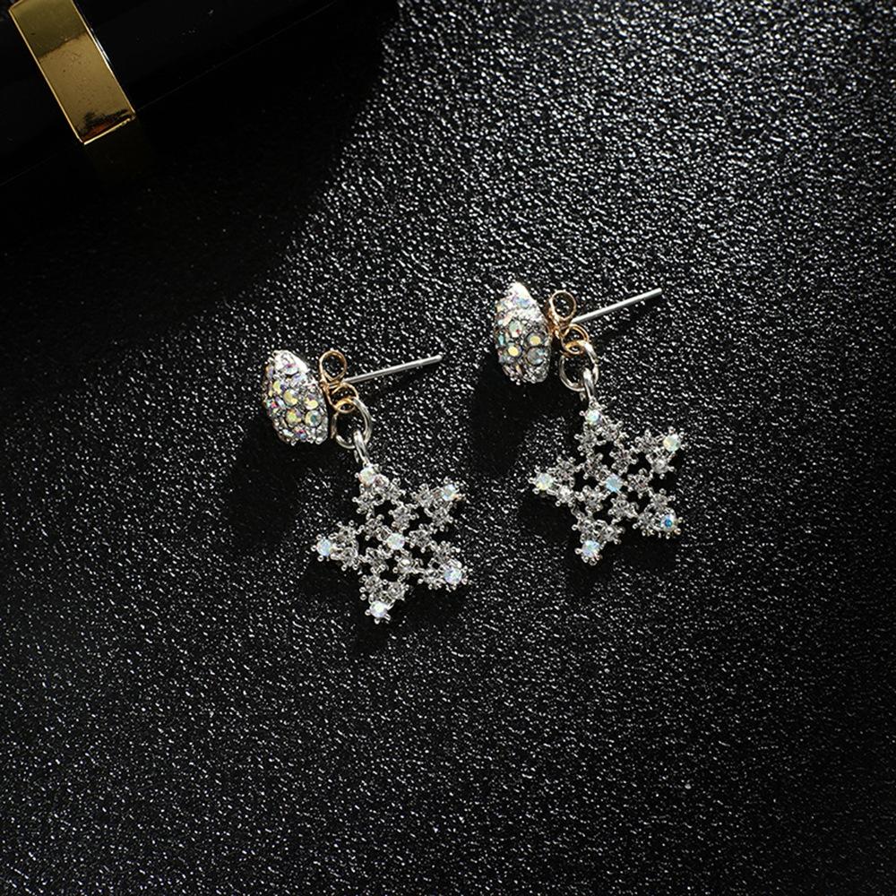 Han edition personality alloy diamond stud earrings pink star earrings female stud earrings,pendants Black star one size 4