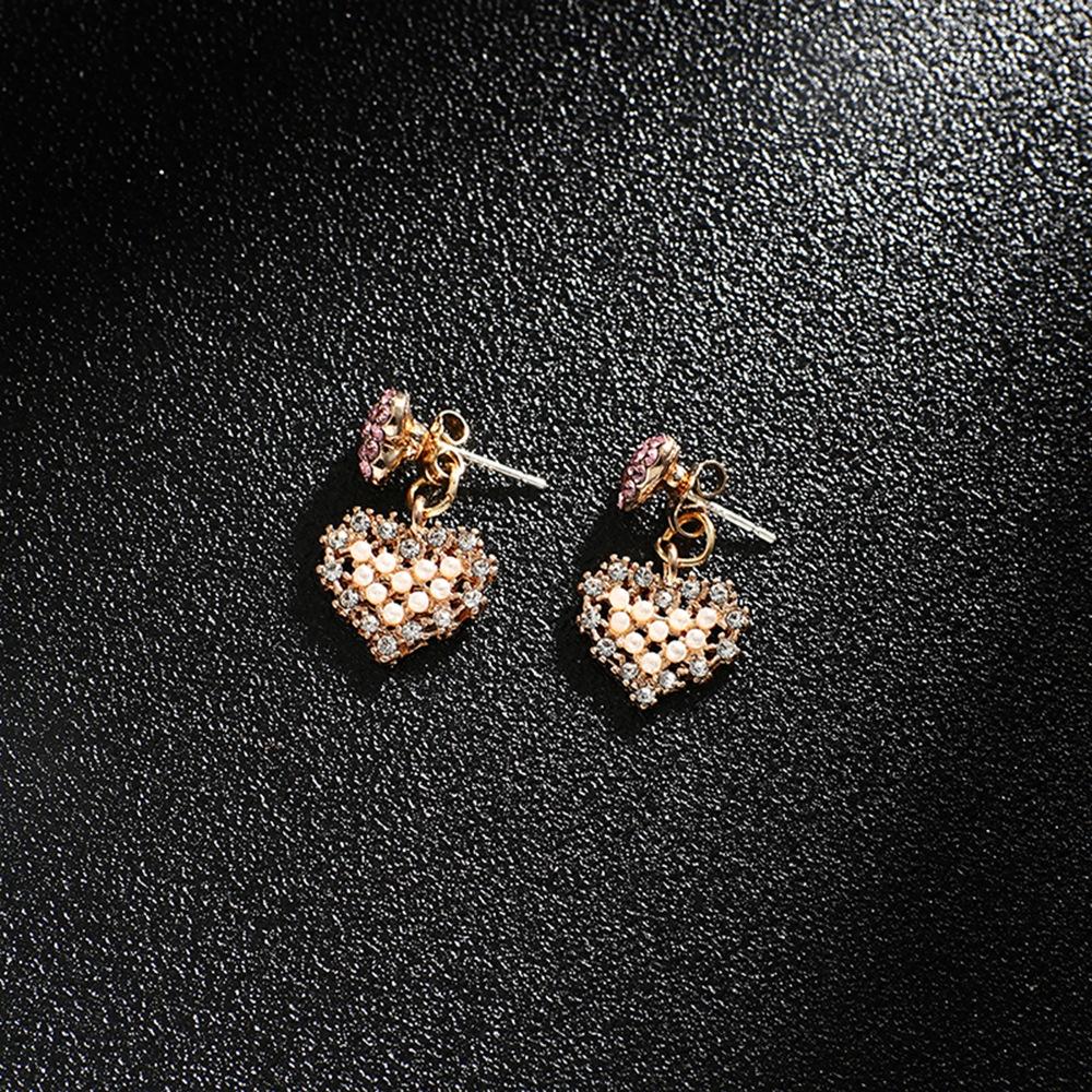 Han edition personality alloy diamond stud earrings pink star earrings female stud earrings,pendants Black star one size 3