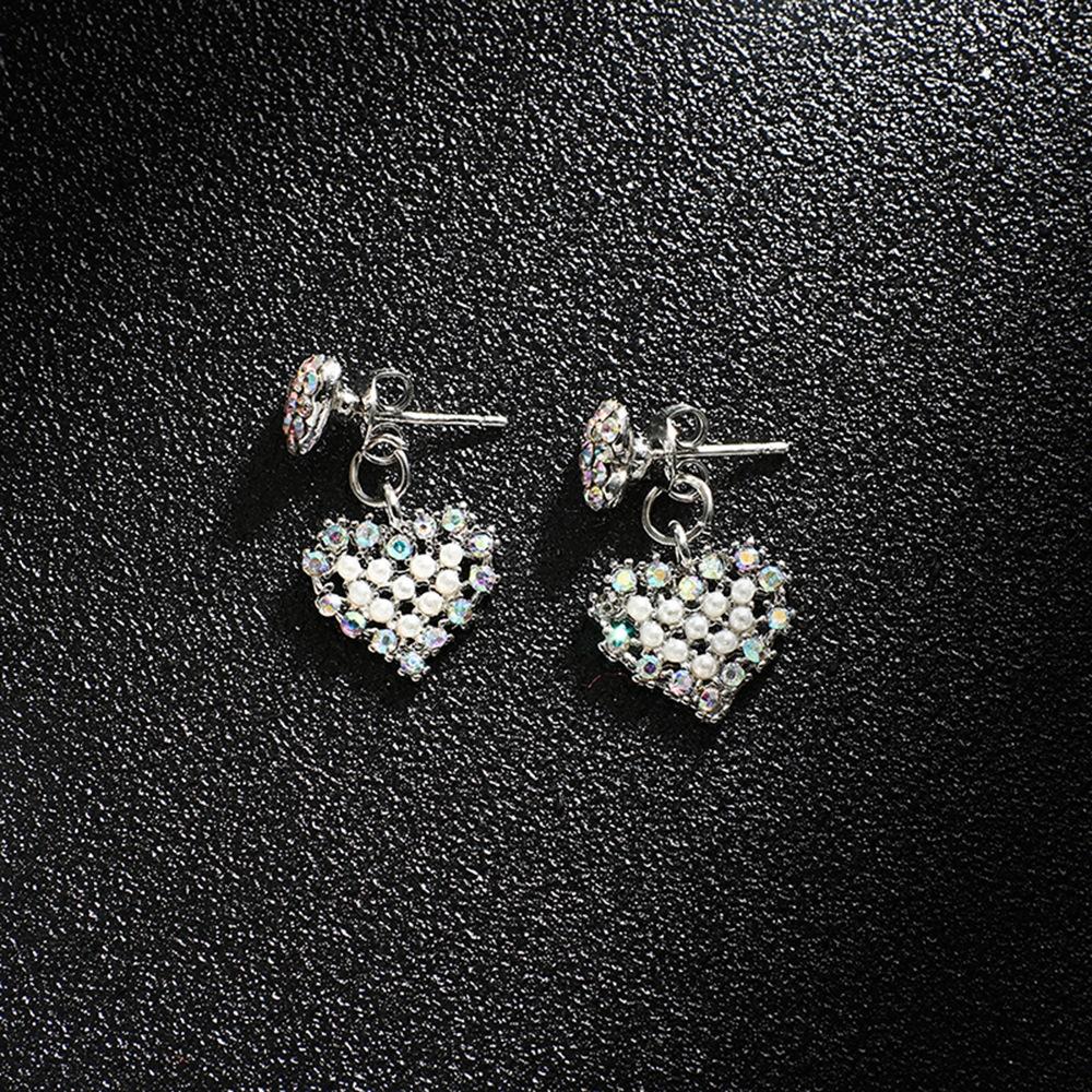 Han edition personality alloy diamond stud earrings pink star earrings female stud earrings,pendants Black star one size 2