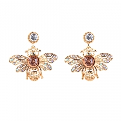 Han edition bee alloy earring personality set auger animal modelling earpins earrings adorn article a one size
