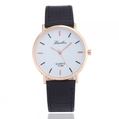 Han edition fashion watches Ultra-thin type couples watch men and women Men's wrist watch students Black men a