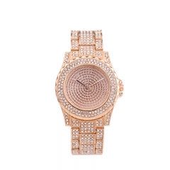 New quartz watch fashion leisure suit ms steel band watches all over the sky star watches watches pink a