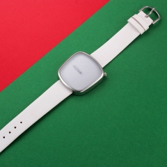 The new personality fashion square quartz watch men and women leisure student table white a