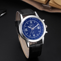 Personality Blue glass gift watch straps men watch fashion men's watch black one size