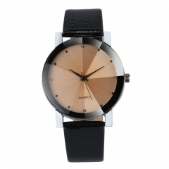 Fashion Men Womens Watches Quartz Stainless Steel Dial Leather Band Wristwatch Clock Gift white one size