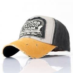 Spring Cotton Cap Baseball Summer Cap Hip Hop Fitted Cap Hats For Men Women Grinding Multicolor yellow
