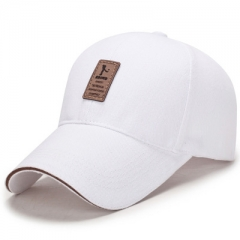 Age season contracted business baseball cap man outdoor sun hat cotton leisure hat golf hat White a