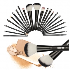 20/22Pcs Beauty Makeup Brushes Set Cosmetic Foundation Powder Blush Eye Shadow Lip Blend MakeUp Kit Red Silvery 22PCS