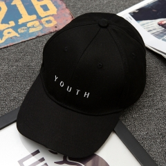 Summer 2017 Brand New Cotton Mens Letter Print Women Men Hats Baseball Cap Casual Caps,Peaked cap black