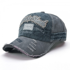The new hat fashion do old broken edge baseball caps sun hat ,men and women lovers caps blue-gray