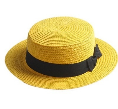 37959fca8e5 sun caps Ribbon Round Flat Top Straw beach hat Panama Hat summer ...