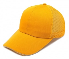 Male and female Korean sunshade hat, fashion yarn net sun hat baseball cap , Peaked cap yellow