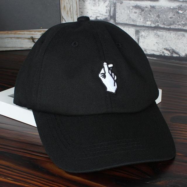 Love Gestures Finger Embroidery Golf Cap Men Women Snapback Caps ... e1a90c50558