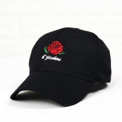 New Hot Fashion Roses Men Women Baseball Caps Spring Summer Sun Hats for Women Solid Snapback Cap black