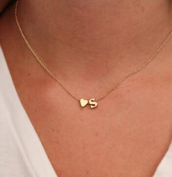 Gold necklace gold letter necklace initials name necklaces Personalized pendant for women girls E a 8