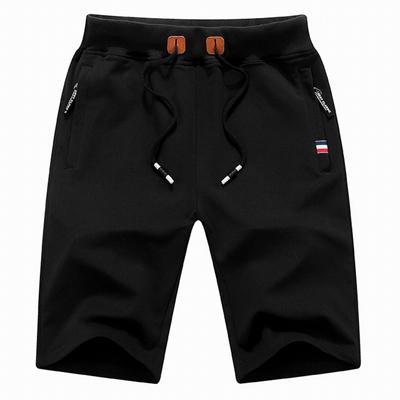 2018 Solid Men's Shorts 6XL Summer Mens Beach Shorts Cotton Casual Male Shorts home Brand Clothing black m