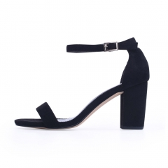 Ankle Strap Heels Women Sandals Summer Shoes Women Open Toe Chunky High Heels Party Dress Sandals black 35