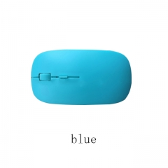 Ultra Thin Optical Wireless Mouse 2.4G Receiver Super Slim Mouse Cordless Computer PC Laptop Mouse blue U52