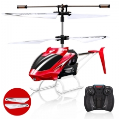 W25 RC Helicopter 2 CH 2 Channel Mini RC Drone With Gyro Crash Resistant RC Toys For Boy Kids Gift red W25