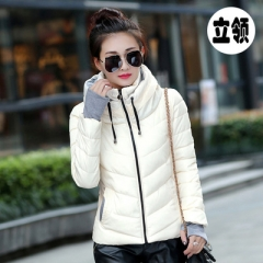 2018 Winter Jacket women Parkas Thicken Outerwear solid Short Female  Cotton padded  Down Jackets white M