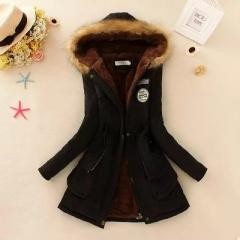 New Female Women Winter Coat Thickening Cotton Winter Jacket Womens Outwear Parkas for Women Winter black s