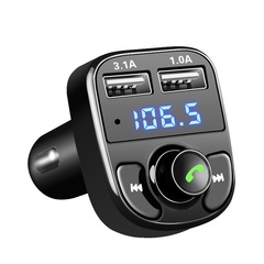 FM Transmitter Aux Modulator Bluetooth Car Audio MP3 Player 3.1A Quick Charge Dual USB Car Charger