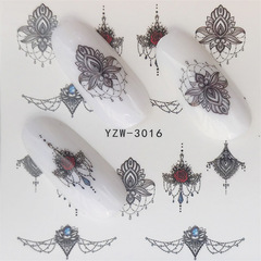 3pcs Nail Stickers on Nails Flower Stickers for Nails Lavender Nail Art Water Transfer Stickers 5