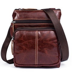 Men Shoulder bag Genuine Leather Small male man bags for Messenger men Leather bags Handbags red one size