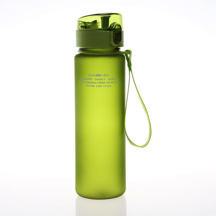 400ml 560ml BPA Free Leak Proof Sports Water Bottle High Quality Tour Hiking Portable Bottles green 400ml