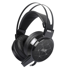 C13 Wired Gaming Headset Deep Bass Game  Computer headphones with microphone led light headphones black