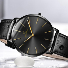 Mens Watches Top Brand Luxury Ultra-thin Wrist Watch Men Watch Men's Watch Clock Quartz watch black one size