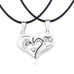 Necklace Pendant Couples Paired Necklaces&Pendants Unisex Lovers Pendant silver a