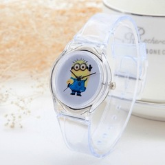 Transparent Clock Silicon Watch Women Casual Quartz Wristwatches Novelty Crystal Ladies Watches 2 one size