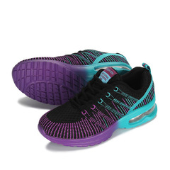 New Sports Ladies Shoes Walking Breathable Mesh Flat Shoes Casual Running Sneakers Platform Shoe 1 35