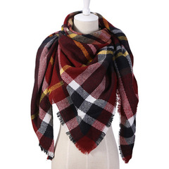 Cashmere Winter Scarf For Women Scarf Wool Plaid Blanket Scarf Warm Pashmina Wrap Shawls and Scarves 1 140*140*190cm