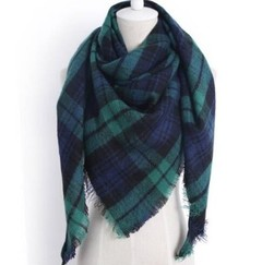 Cashmere Winter Scarf For Women Scarf Wool Plaid Blanket Scarf Warm Pashmina Wrap Shawls and Scarves 2 140*140*190cm