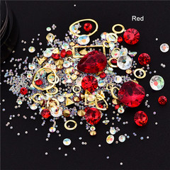 Mixed Colorful Acrylic Rhinestones Alloy Metal Frame DIY Nails Decor Manicure 3D Nail Art Decoration 1