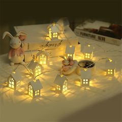 LED Christmas Tree House Style LED Light String Garland HOME New Year Christmas Decorations Home 2m 10 lamp a 20W