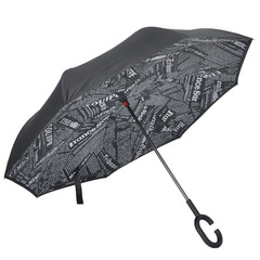 Double Layer Reverse folding umbrella inverted Wind Proof Rain Umbrella car for Women 2