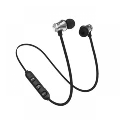 Motion wireless bluetooth headsets anti-perspiration magnetic headsets stereo headphones Type 2 Silvery