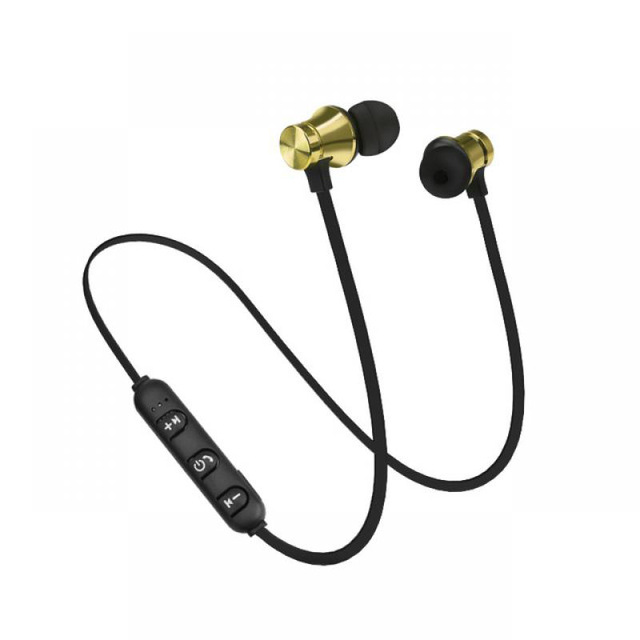 Motion wireless bluetooth headsets anti-perspiration magnetic headsets stereo headphones Type 2 gold