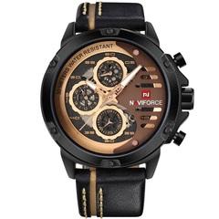 Mens Watches Waterproof 24 hour Date Quartz Watch Man Leather Sport Wrist Watch Men Waterproof Clock 1 one size